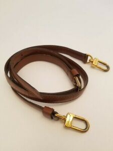 100% Auth Louis Vuitton Brown Shoulder Strap for Bag Gold