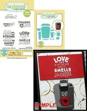 Taylored Expressions KOFFEE TIME Rubber Stamp & Die Combo Set TEPS171 Coffee