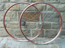 Ruote CAMPAGNOLO 9-10-11 V sp + cerchi Ambrosio Balance rosse da corsa