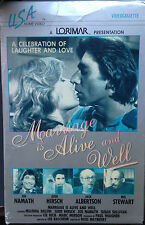 Marriage is Alive and Well (VHS) Rare 1979 TV movie stars Joe Namath-Judd Hirsch