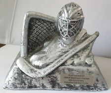 OLAF KOLZIG SIGNED WASHINGTON CAPITALS EXECUTIVE CLUB 1999 SILVER HOCKEY AWARD