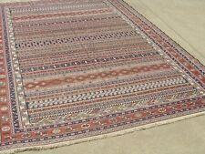 "Vintage Caucasian Verne Verneh Flat Woven All Wool Oriental Rug Carpet 76""x115"""