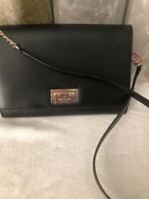 NWT Kate Spade Harwood Place Fiona Leather Square Shoulder Crossbody Black Color