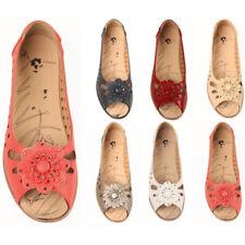 Zapatos planos de mujer manoletinas de piel sintética