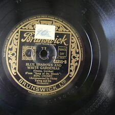 78rpm BING CROSBY blue shadows white gardenias / sing me a song of the islands