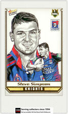 2007 Select NRL Champions Sketch Card SK16 Steve Simpson ( Knights)**