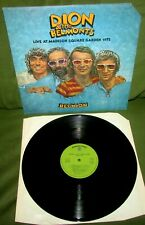 DION & THE BELMONTS Reunion Live At Madison Square Gdn 72 ORIG 1st UK 1973 WB