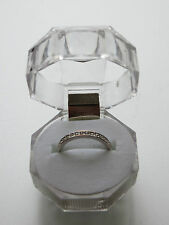 AUTHENTIC / GENUINE / SIGNED SWAROVSKI CHANNEL BAND RING SIZE 5 silver 55