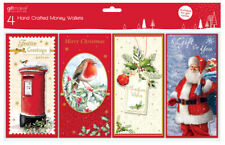 8 Tradional Christmas Money Voucher Wallets Gift Cards & Envelopes (2x4) GC202