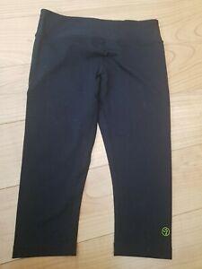 Black 3/4 Length Zumba Leggings Uk M