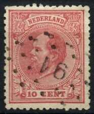 Netherlands 1872-91 SG#100, 10c Rose P12.5 Used #D71190