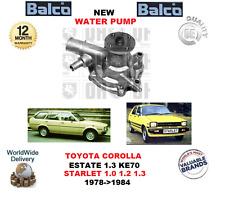FOR TOYOTA COROLLA ESTATE KE70 1.3 STARLET KP6 1.0 1.2 1.3  1978>1984 WATER PUMP