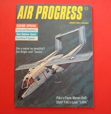 AIR PROGRESS MAGAZINE AUG/1966...RACING SPECIAL: NEW BIPLANE SPECS