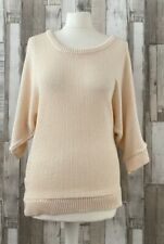 Urban Outfitters Sparkle & Fade Beige Knitted Batwing Jumper Boho Style Size M
