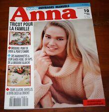 ANNA BURDA CATALOGUE PATRON TRICOT CROCHET POINT DE CROIX OCTOBRE 1992 PATRON