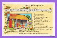 KENTUCKY - MY OLD KENTUCKY HOME POSTCARD  2187
