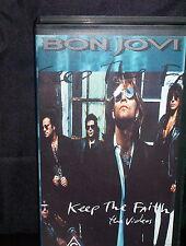 BON JOVI KEEP THE FAITH – THE VIDEOS - VHS VIDEO