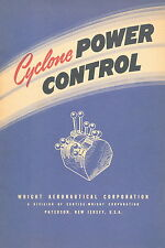 """WRIGHT CYCLONE POWER CONTROL (1945) + BROCHURE """"THE WRIGHT CYCLONE 7""""  (1946)"""