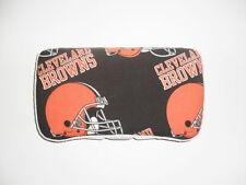 Black & Orange Cleveland Browns Baby Wipes Case
