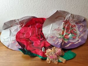Valentines Foil Balloons Lot Rose I Love You