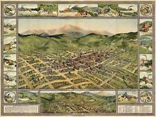 Mappa Cripple Creek 1896 Vintage 12 x 16 cm art print poster foto hp2195