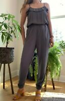 New Abercrombie and Fitch Womens Jumpsuit S M L Gray