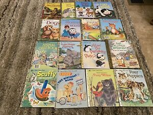 VINTAGE LOT OF 16 LITTLE GOLDEN BOOKS FROM