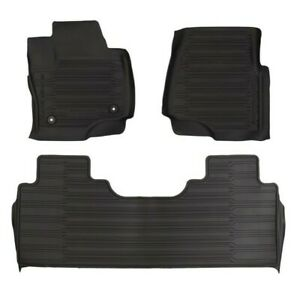 OEM 2017-21 Ford Super Duty Tray Style Molded Black Floor Mats 3 Piece Crew Cab