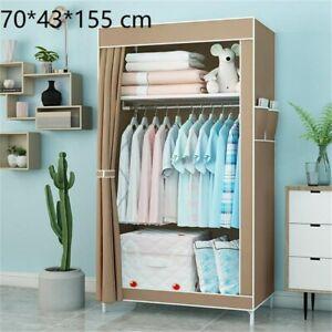 2 Farben Faltschrank Stoff-Kleiderschrank Vliesbezug 70x150x45 cm