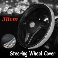 15'' Crystal Car Truck Steering Wheel Cover PU Leather w/ Cool Bling Rhinestone
