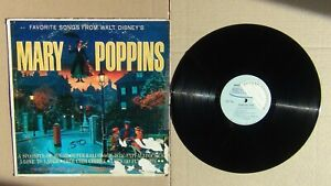 Vtg. Favorite Songs From Walt Disney's MARY POPPINS Somerset LP 33 FREE SHIPPING