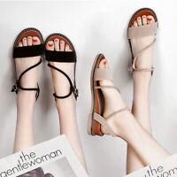 Damenschuhe Sandalen Flip Flops Weibliche Römische Wildleder Sandalen Gr.35-40