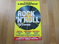 ROCK n ROLL inc Brian COX & Sinead CUSACK Original DUKE of YORK'S Theatre Poster
