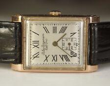 1940's Vintage Jules Jurgensen 14K Rose Gold 17j JXJ ETA 1000 Watch #192884 WWII