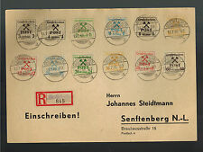 1946 Grossraschen East Germany Sachsen cover to Seftenberg Local Issues Set