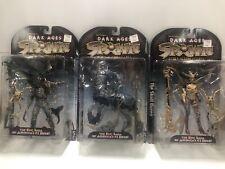 McFarlane Toys Spawn Dark Ages 3 Figures - Spellcaster, Skull Queen, Raider NIB