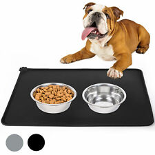 Silicone Pet Feeding Mat Non Slip Pet Food Placemat for Dog Cat Bowls 19x12'
