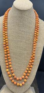 Barse Great Lengths Necklace- Matte Orange Magnesite- NWT