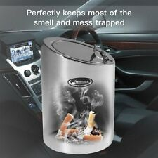 Home Office Car Auto Ashtray With Lid for Cigarettes Smokeless Stainless Steel