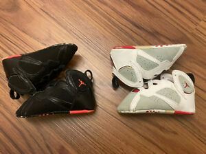 Air Jordan Retro 7 Crib Shoes 4c Hare Martain Soft Bottom (2 Pairs) Infant Baby