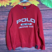 Vintage Polo Jeans RL-67 Ralph Lauren Sweatshirt Crewneck Sweater Sz Small