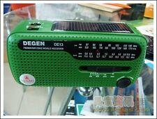 Weltempfänger Degen DE13 Crank Dynamo Solar Emergency AM FM SW world Radio