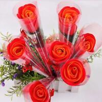 5 Farben Bad- Körper Rose Blume Seife Duftseifen Hochzeit  Geschenk neu# de