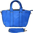 WOMENS GIRLS SALLY DESIGNER TOTE HANDBAG LADIES SHOULDER BAG SATCHELS METAL BAR