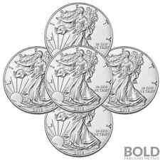 2016 Silver 1 oz American Eagle BU (5 Coins)