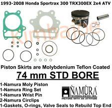 Big Bore Piston Wristpin Kit For Honda 1993-2009 Sportrax 300 TRX300 Replaces 13101-HM3-670 13102-HM3-670