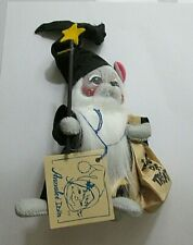 Vintage Annalee Halloween mouse Wizard with trick or treat bag and wand 1993