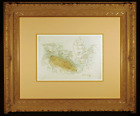 Bather Original Etching and Aquatint by Raoul Dufy Signed in the Plate Framed