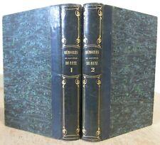 MEMOIRES DU CARDINAL DE RETZ 1842 FAC-SIMILE COMPLET EN 2 VOL HISTOIRE LA FRONDE