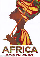 Beautiful Woman Africa African Vintage Travel Art Poster Advertisement